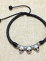 cheap -Braided Ankle Bracelet - Leather Skull Stylish, Steampunk Black / Red For Daily Men's