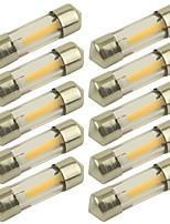 Недорогие -10 шт. 31mm Автомобиль Лампы 1 W COB 100 lm 1 Светодиодная лампа Лампа поворотного сигнала Назначение