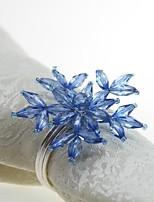 abordables -Distingué / Classique Plastique / arylic Rond Ronds de serviettes Couleur Pleine Fleur Décorations de table 12 pcs