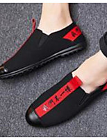 cheap -Men's Moccasin Canvas Spring Casual Loafers & Slip-Ons Black and White / Black / Red / Black / Yellow