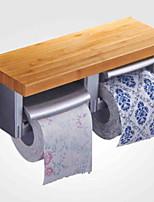 Недорогие -Держатель для туалетной бумаги Новый дизайн / Cool Современный Дерево / Нержавеющая сталь / железо 1шт Держатели для туалетной бумаги На стену