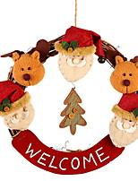 abordables -Guirnaldas / ornamentos de Navidad Vacaciones Tejido de Algodón Redondo Novedades Decoración navideña