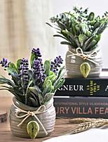 Недорогие -Искусственные Цветы 1 Филиал Классический / Односпальный комплект (Ш 150 x Д 200 см) Стиль Pастений Букеты на стол