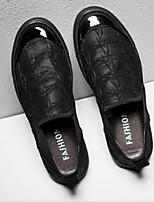 Недорогие -Муж. Комфортная обувь Искусственная кожа Весна & осень На каждый день Кеды Черный / Темно-русый / Хаки
