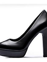 Недорогие -Жен. Наппа Leather Весна Туфли лодочки Обувь на каблуках На шпильке Черный
