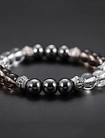 cheap -Men's Black Gemstone / Tiger Eye Stone Stylish Strand Bracelet / Bracelet - Resin Creative Natural, Casual / Sporty, Fashion Bracelet Black For Birthday / Daily