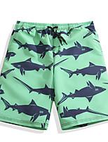 abordables -Homme Shorts de Natation Ultra léger (UL), Séchage rapide Polyester Maillots de Bain Tenues de plage Shorts de Surf / Bas Animal Surf / Plage / Sports Nautiques