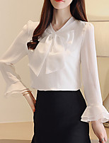 cheap -Women's Blouse - Solid Colored Bow