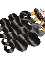 Недорогие -4 Связки Индийские волосы / Вьетнамские волосы Естественные кудри Необработанные / Натуральные волосы Подарки / Косплей Костюмы / Человека ткет Волосы 8-28 дюймовый Ткет человеческих волос
