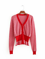 cheap -Women's Short Sleeve Cotton Cardigan - Solid Colored