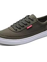 Недорогие -Муж. Комфортная обувь Полиуретан Осень На каждый день Кеды Дышащий Черный / Серый / Зеленый