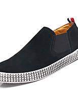 Недорогие -Муж. Полиуретан Осень Удобная обувь Мокасины и Свитер Черный / Синий / Хаки