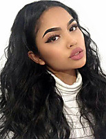 cheap -Remy Human Hair Full Lace Wig Brazilian Hair Body Wave Wig 130% With Baby Hair / Natural Hairline / African American Wig Natural Women's Long Human Hair Lace Wig