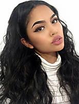 Недорогие -Remy Полностью ленточные Wig Бразильские волосы Естественные кудри Парик 130% С детскими волосами / Природные волосы / Парик в афро-американском стиле Нейтральный Жен. Длинные