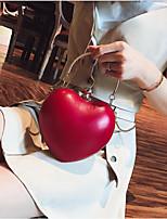 Недорогие -Жен. Мешки PU Вечерняя сумочка Молнии Черный / Красный / Розовый