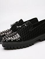 cheap -Men's Bullock Shoes Microfiber Spring Loafers & Slip-Ons Black