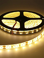 cheap -HKV 5m Flexible LED Light Strips 300 LEDs SMD5630 Warm White / Cold White Cuttable / Linkable / Self-adhesive 12 V