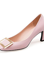 Недорогие -Жен. Обувь Наппа Leather Весна Туфли лодочки Обувь на каблуках На шпильке Черный / Розовый
