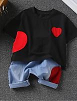 Недорогие -Дети (1-4 лет) Мальчики Геометрический принт С короткими рукавами Набор одежды