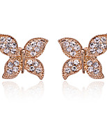 cheap -Women's Cubic Zirconia Classic / Stylish Brooches - Creative, Butterfly Luxury, Romantic, Fashion Brooch Gold / Silver For Daily / Work