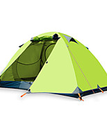 cheap -BSwolf 2 person Family Tent Double Layered Poled Camping Tent One Room  Outdoor Windproof >3000 mm  for Fishing Terylene 210*140*110 cm / Rain-Proof
