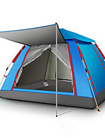 cheap -TANXIANZHE® 4 person Family Tent Single Layered Automatic Camping Tent One Room  Outdoor Windproof 2000-3000 mm  for Fishing Oxford Cloth 215*215*142 cm / Rain-Proof