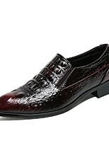 Недорогие -Муж. Полиуретан Осень Удобная обувь Мокасины и Свитер Черный / Винный