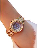 cheap -Women's Wrist Watch Quartz Chronograph Luminous Casual Watch Alloy Band Analog Luxury Sparkle Silver / Gold - Gold Silver / Imitation Diamond / Large Dial