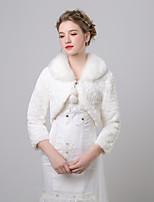 economico -Manica a 3/4 Pelliccia sintetica Matrimonio / Compleanno Stole da donna Con Ciondolo Cappotti / giacche