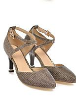 Недорогие -Жен. Комфортная обувь Полиуретан Весна Обувь на каблуках На шпильке Черный / Серебряный / Красный