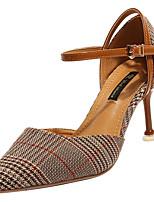 Недорогие -Жен. Балетки Полиуретан Лето На каждый день Обувь на каблуках На шпильке Заостренный носок Черный / Синий / Хаки / Для вечеринки / ужина