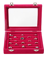 cheap -Storage Organization Jewelry Collection PMMA Rectangle Shape Flip-open Cover