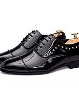 Недорогие -Муж. Полиуретан Осень Удобная обувь Туфли на шнуровке Черный