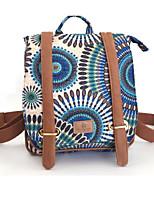 Недорогие -Универсальные Мешки холст рюкзак Узоры / принт Оранжевый / Темно синий / Лиловый