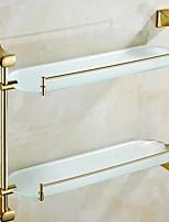 Недорогие -Полка для ванной Новый дизайн / Cool Современный Латунь / стекло 1шт На стену