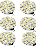 cheap -6pcs 3 W 260 lm G4 LED Bi-pin Lights T 24 LED Beads SMD 5050 Warm White / Cold White 12-24 V