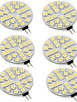 Недорогие -6шт 3 W 260 lm G4 Двухштырьковые LED лампы T 24 Светодиодные бусины SMD 5050 Тёплый белый / Холодный белый 12-24 V