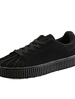 Недорогие -Муж. Комфортная обувь Полотно Весна & осень На каждый день Кеды Черный / Серый / Красный