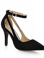 baratos -Mulheres Sapatos Confortáveis Couro Ecológico Primavera Saltos Salto Agulha Preto / Vermelho