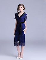 cheap -Women's Elegant Sheath Dress Lace