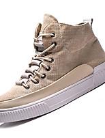 Недорогие -Муж. Комфортная обувь Полотно Осень Кеды Черный / Бежевый