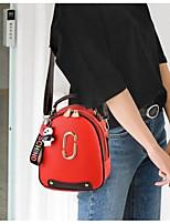 Недорогие -Жен. Мешки Солома рюкзак Однотонные Красный / Светло-лиловый / Светло-серый