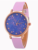 cheap -Women's Wrist Watch Quartz Casual Watch PU Band Analog Casual Fashion Black / Blue / Red - Red Blue Pink One Year Battery Life