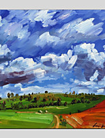 cheap -Oil Painting Hand Painted - Landscape Modern Canvas