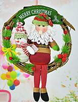 abordables -ornamentos de Navidad Vacaciones Tejido de Algodón Redondo Novedades Decoración navideña