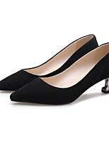 Недорогие -Жен. Комфортная обувь Замша Лето Обувь на каблуках На шпильке Черный / Серый / Красный