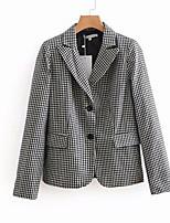cheap -Women's Basic Blazer-Check