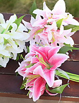 Недорогие -Искусственные Цветы 11 Филиал Классический / Односпальный комплект (Ш 150 x Д 200 см) Стиль / Пастораль Стиль Лилии Букеты на стол