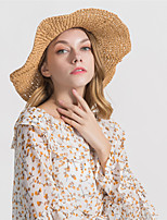 cheap -Women's Basic Straw Hat - Solid Colored