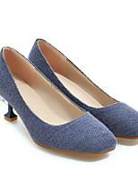 Недорогие -Жен. Комфортная обувь Замша Весна Обувь на каблуках На низком каблуке Серый / Желтый / Синий